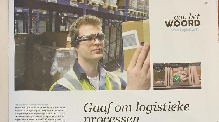Arox Logistics IT wederom in Dagblad van het Noorden
