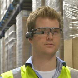 Smart glasses in a warehouse environment logistics innovation